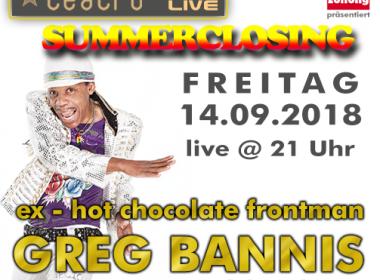 Summerclosing @ teatro feat. GREG BANNIS