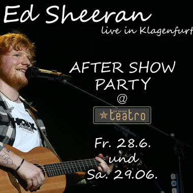 Ed Sheeran After Show Party @ Teatro
