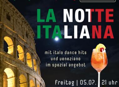 Gastgarten-Opening mit Notte Italiana