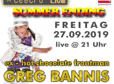 Teatro's Summerending mit Greg Bannis live!