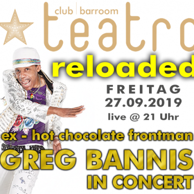 Greg Bannis live in concert (Teatro goes Live again)